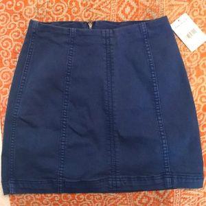 Free People Blue Mini Skirt Size Small (S)